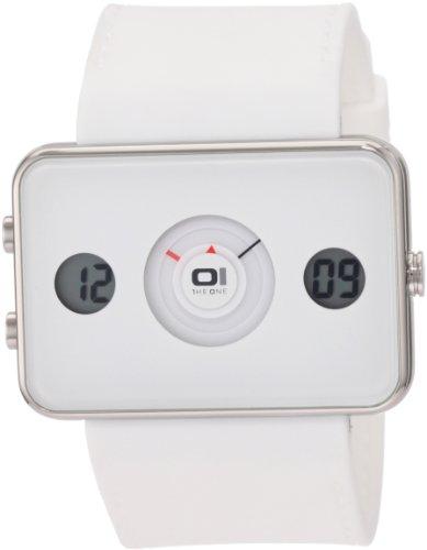 Unbekannt Reloj Binario para Hombre de Cuarzo con Correa en Caucho IP104-3WH