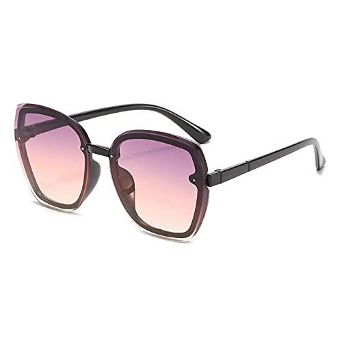 WQZYY&ASDCD Gafas de Sol Gafas De Sol Ojo De Gato Gafas De Sol para Mujer Gafas De Gran Tamaño Cuadradas para Mujer Ladies-Light_Purple