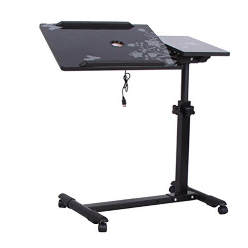 LILIS Fold Away Table,Folding Table Adjustable lift laptop table home bedside rotating tilting mobile recliner table