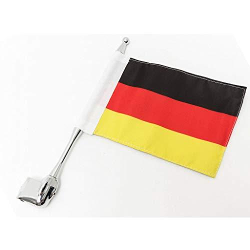 Motorrad Dekoration Flagge und Fahnenmast für GL1800 Goldwing All Years (Germany)