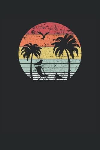 Puesta de sol de la palmera: Cuaderno   Cuadriculado   A cuadros (6 'x9' (15,24 x 22,86 cm)), 120 páginas, papel crema, cubierta mate