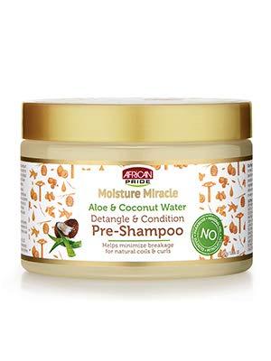 African Pride Moisture Miracle Aloe & Coconut Water Pre - Shampoo 340g