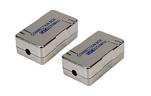 2X Faconet® LSA Verbinder Cat.6 zum Verbinden und Reparieren von Netzwerk, Internet oder ISDN Kabel. LSA Verbinder im geschirmten Gehäuse
