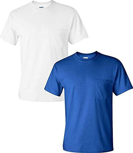 JOK Camiseta para Adultos de Hombres con Bolsillo Fluorescente Secado rápido Camiseta Reflectante Deportes Reflectante Polo Camiseta Fluorescente Trabajo de Manga Corta Humedad Chaleco