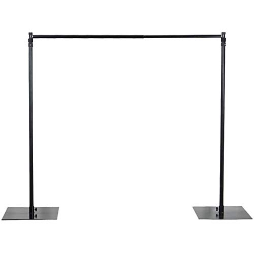 Efavormart 10ft x 10ft Heavy Duty Pipe and Drape Kit Backdrop Support with Weighted Metal Steel Base
