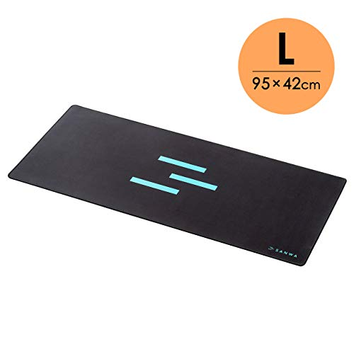 SANWA (Japan Brand) Extended Gaming Mouse Pad with Stitched Edge, Large Foldable Mousepad, Comfy Mouse Mat for Desktop, Non-Slip Base, for Laptop, Computer, Gamer, Home & Office, 950420mm, Black