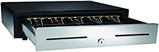 """APG VBS320-BL1616 Vasario Series Standard-Duty Stainless-Steel-Front Cash Drawer with MultiPRO 320 Interface, 24V, 16.2"""" x 4.3"""" x 16.3"""", Black"""