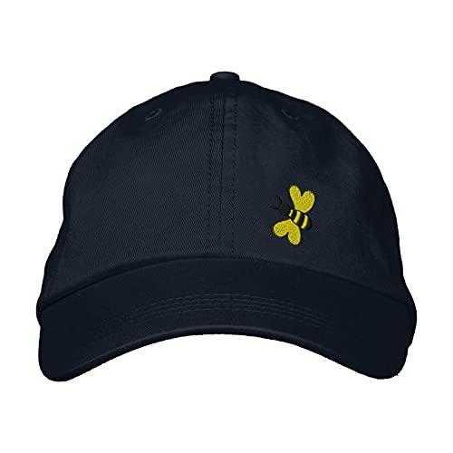Bestickte Baseballkappe, Hummel-Stickerei, Baseballkappe, bestickte Kappen, verstellbare Papa-Hut, Angelhüte Sonnenhüte, navy, S/L