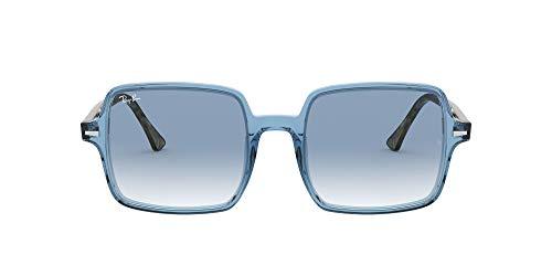 Ray-Ban Square II Gafas, Azul Claro Trasparente/Azul Degradado Trasparente, 53 Unisex Adulto