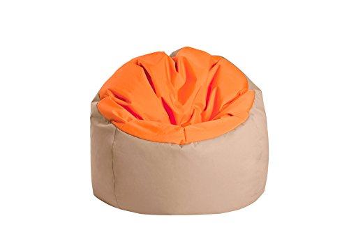 Jumbo Bag 30170–42Sitzsack Globe Polyester Orange/haselnuss 70x 70x 70cm