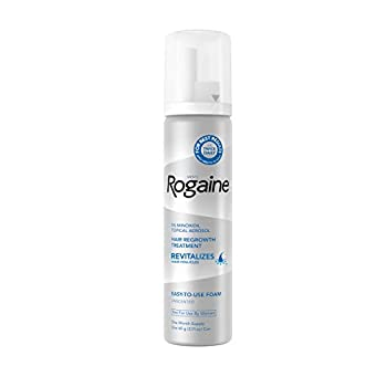 Men s Rogaine 5% Minoxidil Foam for Hair Loss and Hair Regrowth Topical Treatment for Thinning Hair 1-Month Supply