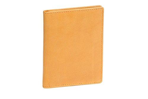 LEAS Caja de piel para DNI Tarjetero para DNI Tarjetero para tarjetas de crédito, Piel auténtica, beige Card-Collection''
