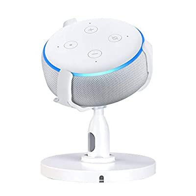 Table Holder for Echo Dot 3rd Generation Stand,360°Adjustable Stand Bracket Mount for Smart Home Speakers,No Muffled Space-Saving Dot Accessories (White) from naweneu