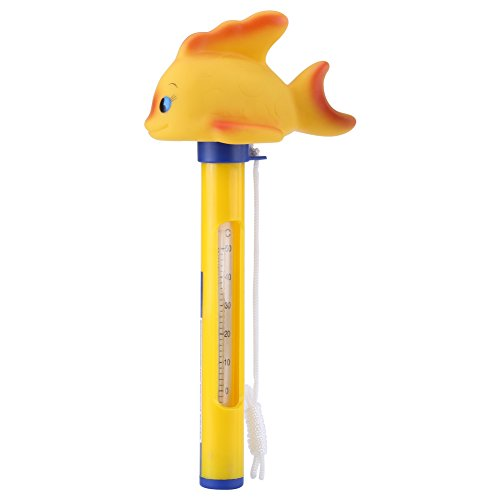 Animal Floating Thermometer for Swimming Pools Spa Jacuzzi Hot Tub F/C Display(Goldfish)