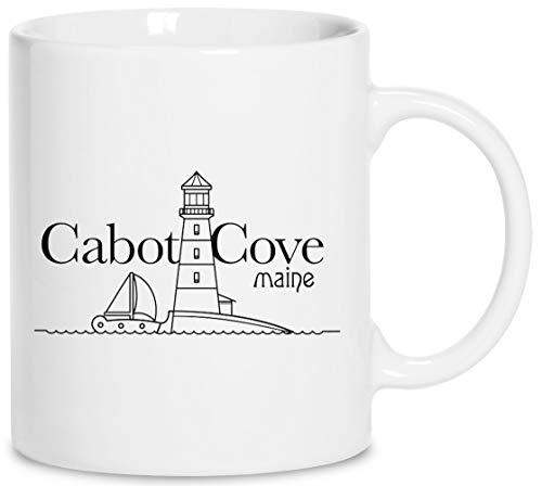 Cabot Cove, Maine - Murder She Wrote Keramik Weiß Tassen Kaffeebecher Cup Mug