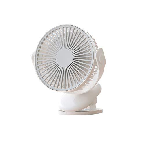 Pkommn Ventilador portátil de ciclo de verano con cuatro velocidades, ventilador de refrigeración giratorio con clip de doble propósito