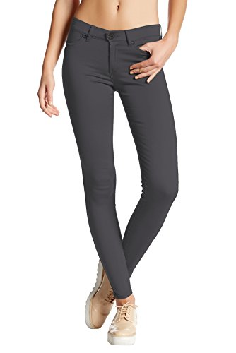 Hybrid & Company Womens Super Stretch Comfy Skinny Pants P44876SK Charcoal S