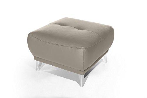 Mivano Hocker Frisco / Polsterhocker in Lederoptik passend zum Sessel, 2er und 3er Sofa Frisco / Sofagarnitur / 65 x 46 x 65 / Hellbraun