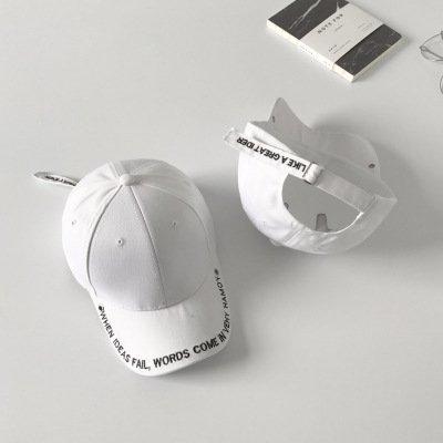 Sombrero Letra Gorra de béisbol al Aire Libre Mujer Primavera y Verano Vacaciones Sombrero para el Sol Moda Coreana Gorra Salvaje