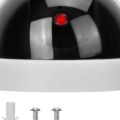 Yuyanshop Apariencia realista cámara falsa simulada vigilancia cámara de seguridad LED rojo con intermitente adecuado para familias para Shoppingmalls