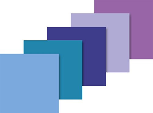 Heyda 203375719 Seidenpapier, sortiert 50 x 70 cm, 5 Farben sortiert (Hellblau, Wasserblau, Dunkelblau, Lavendel, Lila)