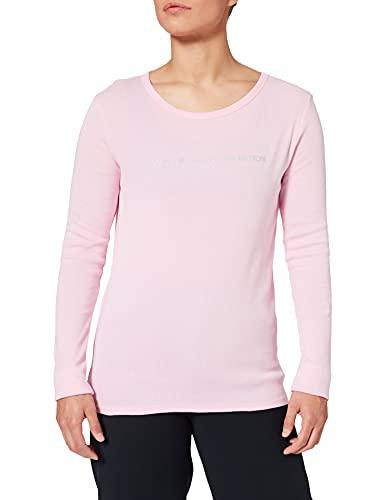 United Colors of Benetton (Z6ERJ T-Shirt M/L 3GA2E16G0 Camiseta, Lilac Sachet 14p, Mujer