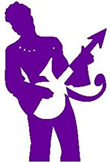 THE ARTIST FORMERLY KNOWN AS PRINCE PLAYING GUITAR SILHOUETTE ROCK BAND LOGO STICKER SYMBOL 5.5