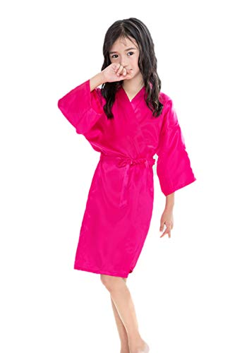 Taigood Color Puro Batas de baño satén Kimono Bata de...