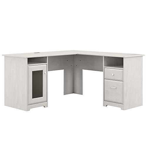 Bush Furniture Cabot L Shape Desk, Linen White Oak