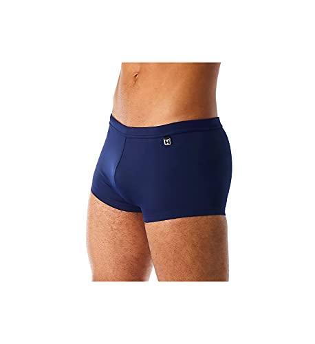 HOM - Herren - Swim Shorts 'Sea Life' - Hochwertige & sportliche Badehose im Retrostyle in Vier attraktiven Saisonfarben - Navy - M