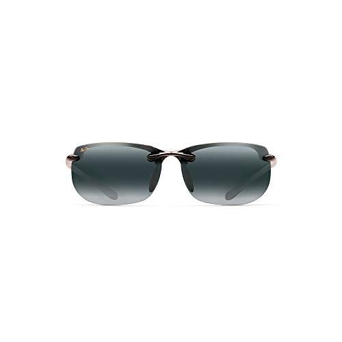 Maui Jim Banyans w/ Patented PolarizedPlus2 Lenses Polarized Sport Sunglasses, Gloss Black/Neutral Grey Polarized, Large