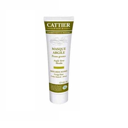 Cattier Grüne Heilerde Maske für fettige Haut , 2er Pack (2 x 100 ml)