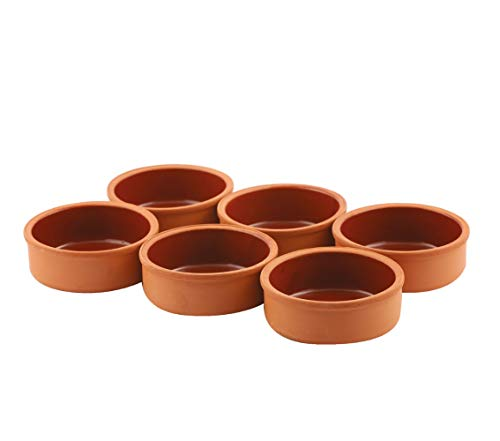 Cooking Clay Bowls Set, Clay Pot for Cooking, Traditional Mexican Dishes, Ancient Terracotta Cookware, Cazuelas de Barro Mexicanas, 6 Pcs