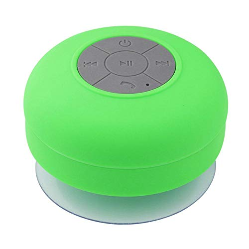 EDCV Bluetooth Speaker Water Proof douche Bluetooth Speaker draadloze draagbare subwoofer met Sucker als stand Ondersteuning Hands-fre, Grass   Green