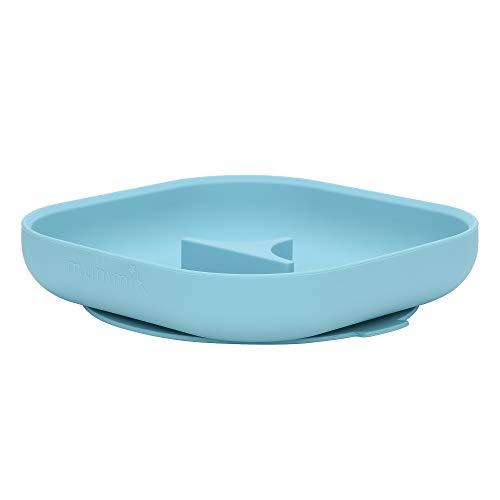 Imagen para Mummik - Placa de succión de silicona premium, color turquesa | Plato ecológico para bebés y niños pequeños