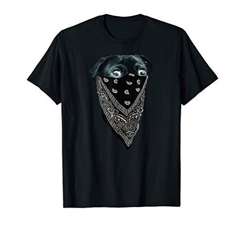 Pug Wearing Bandana as a Mask | Funny Pug Dog in Mask T-Shirt