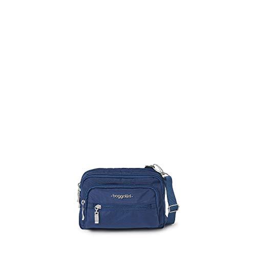 Baggallini womens Triple Zip Travel Crossbody Handbags, Pacific, One Size US