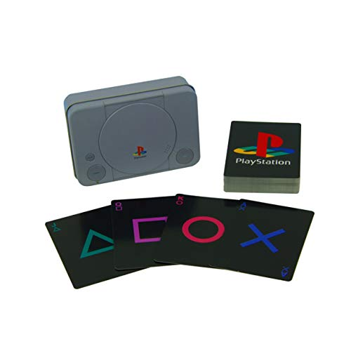 Paladone PP4137PS Other Playstation speelkaarten in voorgevormde doos | 52-delige set | ideaal voor games, poker & blackjack | incl. reliëf verzameldoos, meerkleurig