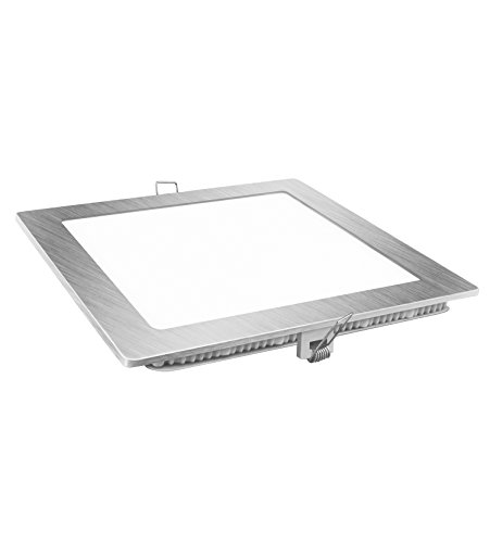 Davled Downlight 23425 - Led Plano, Luz Fría (Cold White) 6400 K, 18 W, Plata, 22,5 x 22,5 cm