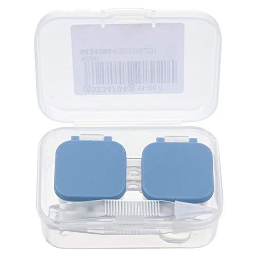 EXCEART Caixa de Lentes de Contato Portátil Estojo de Armazenamento de Lentes de Contato Estojo Automático para Lentes de Olhos Mergulhe O Recipiente de Armazenamento (Azul)