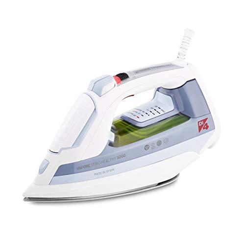 Di4 Plancha de Vapor Stiro Healthy 3200W, Elimina el 99,9999% de los Virus y Bacterias, Tecnología Healthy Patentada, Golpe de Vapor Máx. 250gr, Sistema de Inyección de Agua