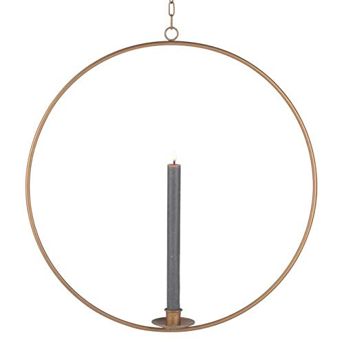 Gift Company Ring, Kerzenhalter zum Hängen, M, Gold