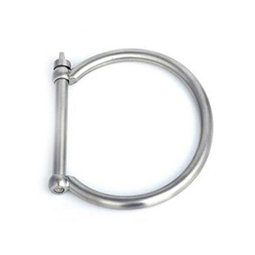 Bracciale rigido in acciaio inox, a forma di manetta, per donne e uomini, 18ct base metallo placcato oro, colore: White, cod. BJ22