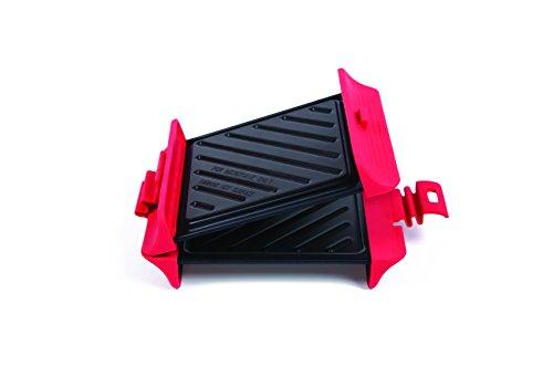 b. Bad 70118Grill Mikrowelle quadratisch, schwarz/rot
