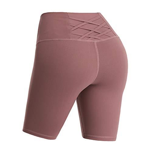Holywim Pantalon Femmes Taille Haute Yoga Formation de contrôle de l'abdomen Court Pantalon de Yoga en Cours d'exécution