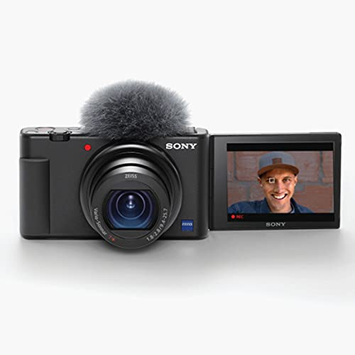 Sony ZV-1 Digital Camera for Content Creators, Vlogging and YouTube with Flip Screen, Built-in Microphone, 4K HDR Video,...