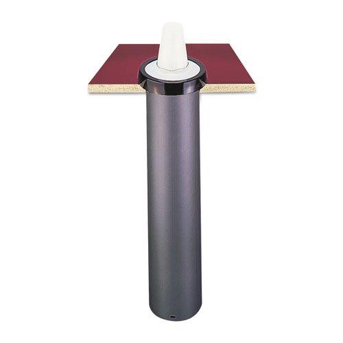 San Jamar EZ-Fit One-Size-Fits-All Cup Dispenser, Black - Includes one dispenser and four EZ-Fit gaskets.