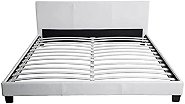 Paris Prix - Lit Adulte Design Mera 180x200cm Blanc
