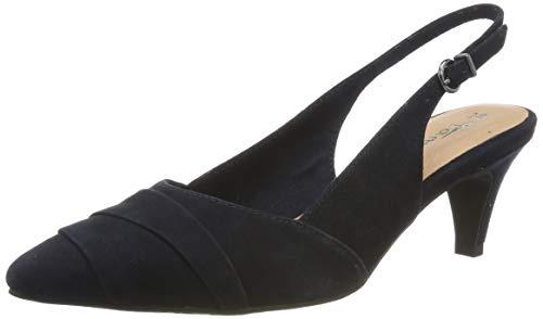 Tamaris Damen 1-1-29616-32 805 Slingback Ballerinas Blau (Navy 805), 40 EU