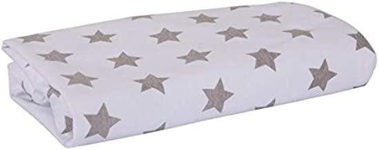 Playgro Home Waterproof Cot Fitted Sheet, White/Grey